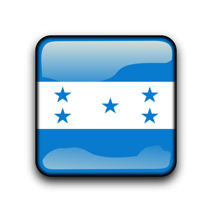 Flag of Honduras Clipart, vector clip art online, royalty free.
