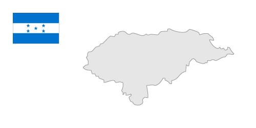Honduras map clipart.