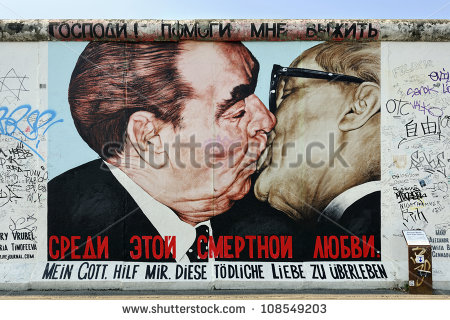 Berlin Wall Stock Images, Royalty.