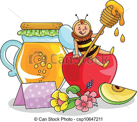 Apple honey Vector Clip Art EPS Images. 779 Apple honey clipart.