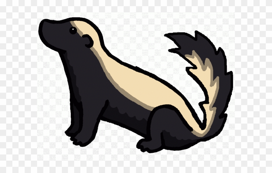 Clip Art Black And White Library Badger Clipart.