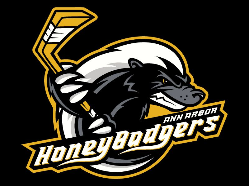 Honey Badger Hockey Logo.