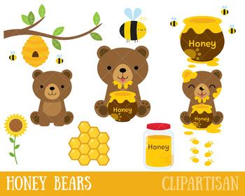 Honey Bears Clip Art, Bees.