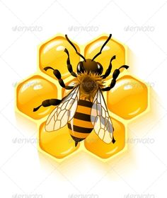 Honey bee mascot jumping flew with cheerful.