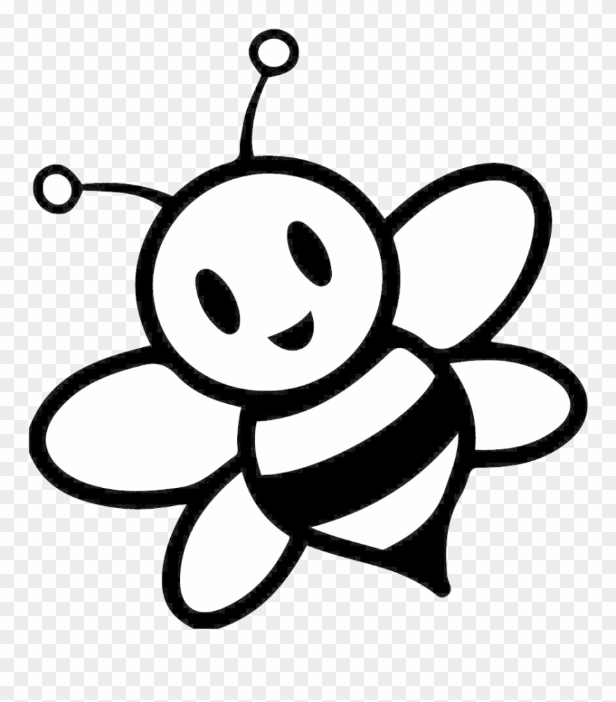 Free download Bee Clipart Black And White Wallpaper Hd.
