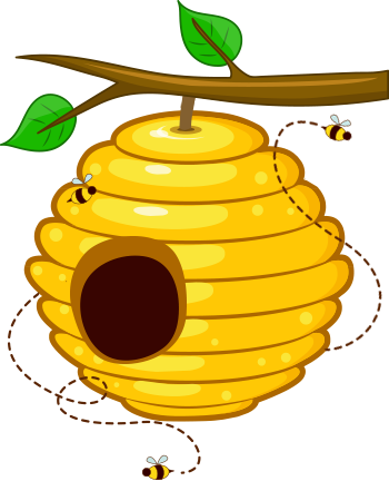 Bee,Honeybee,Yellow,Clip art,Beehive,Membrane.