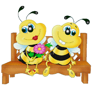Cute honey bees clipart.