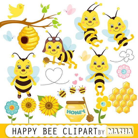 """Honey bee clipart: """"Bee clipart"""" bees clip art, bumble bee clipart."""