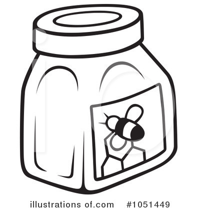 Honey clipart black and white 10 » Clipart Station.