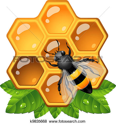 Honeycomb Clipart EPS Images 8548 Clip Art Vector