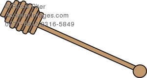 Royalty Free Clipart Illustration of a Honey Dipper.