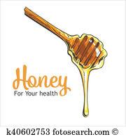 Honey dipper clipart #2