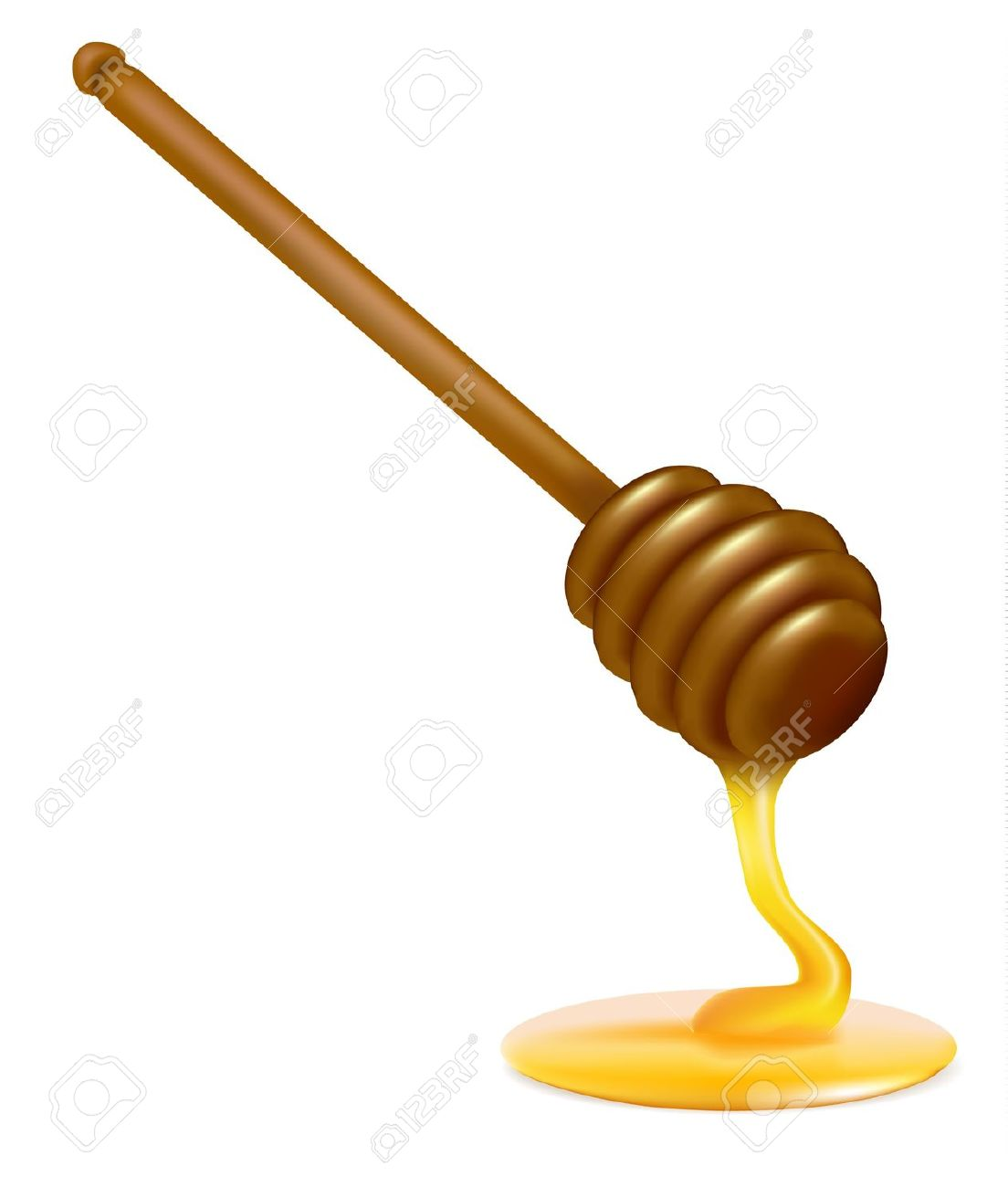Honey Dipper. Illustration Royalty Free Cliparts, Vectors, And.