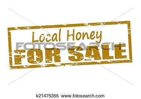 Clipart of Local honey for sale k21475355.