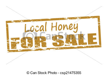 Clipart Vector of Local honey for sale.