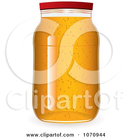 Clipart 3d Glass Jar Of Marmalade Jam Or Honey.