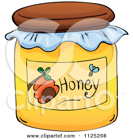 Cute honey pot clipart.