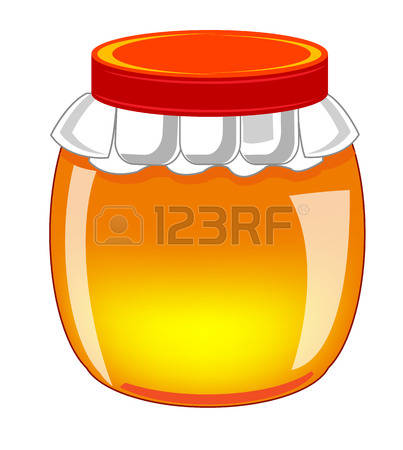 Glass Bank With Honey Stock Vector Illustration And Royalty Free.