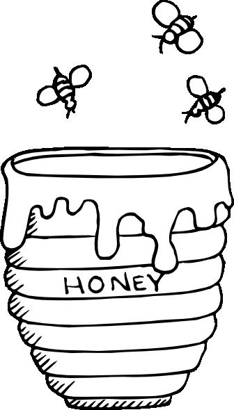 Bees Around A Honey Pot Clip Art at Clker.com.