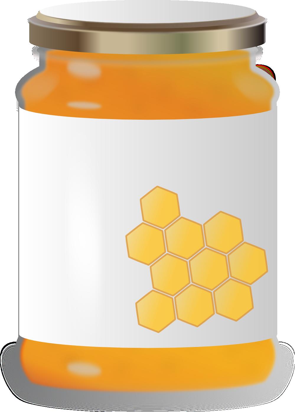 Jar of honey clipart.