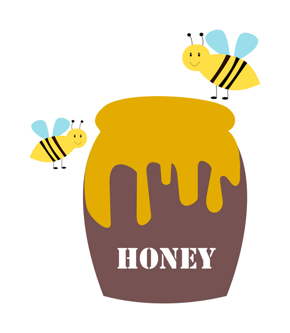 Free honey jar clipart.