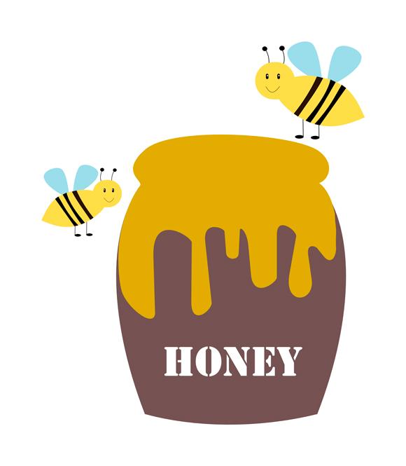 Free honey jar clipart.