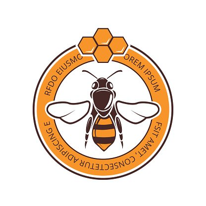 Retro beekeeper, honey, bee vector logo Clipart Image.