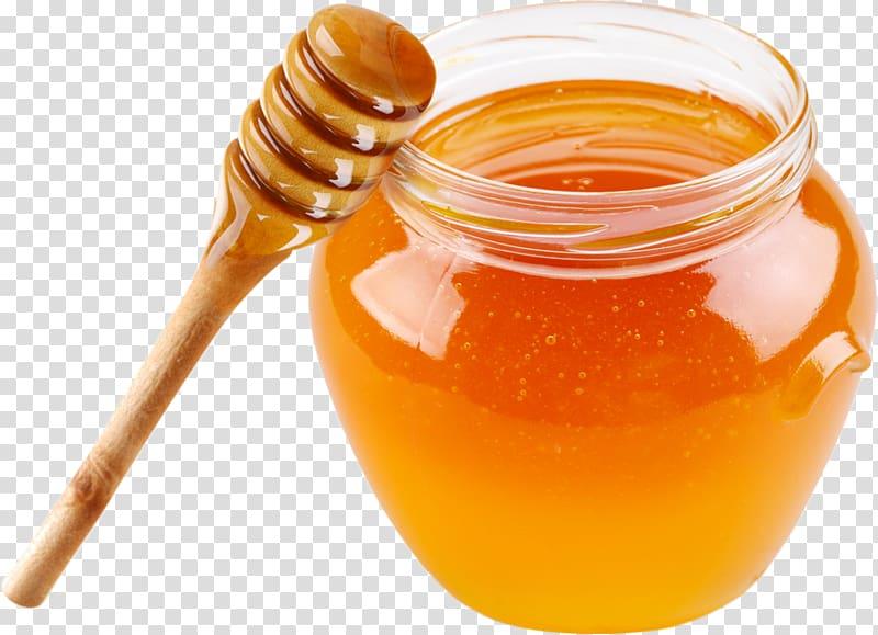 Organic food Honey bee Honey bee Breakfast cereal, honey transparent.