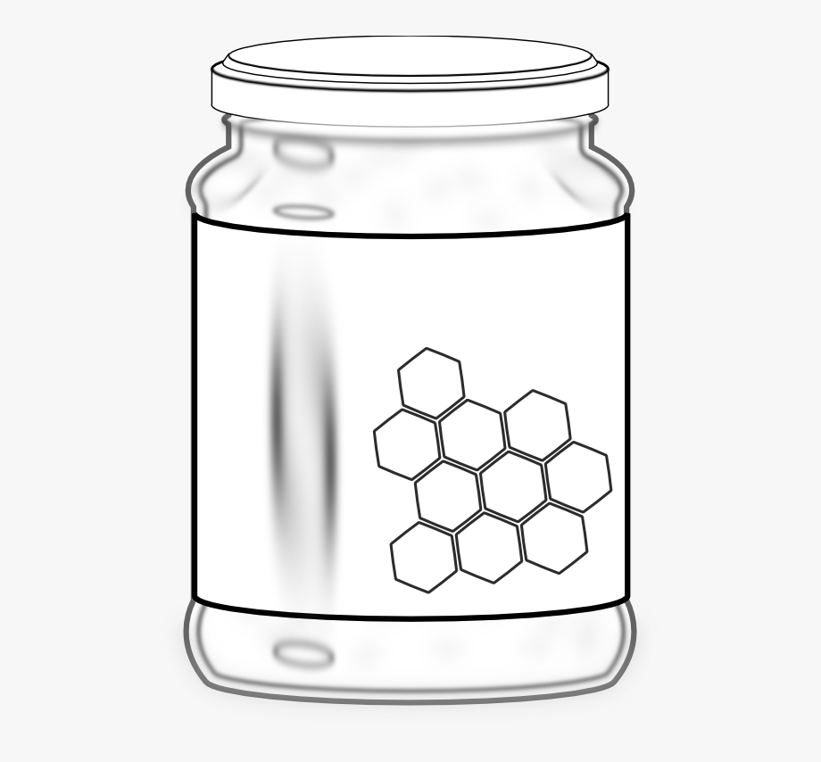 Honey Jar Black And White Png.