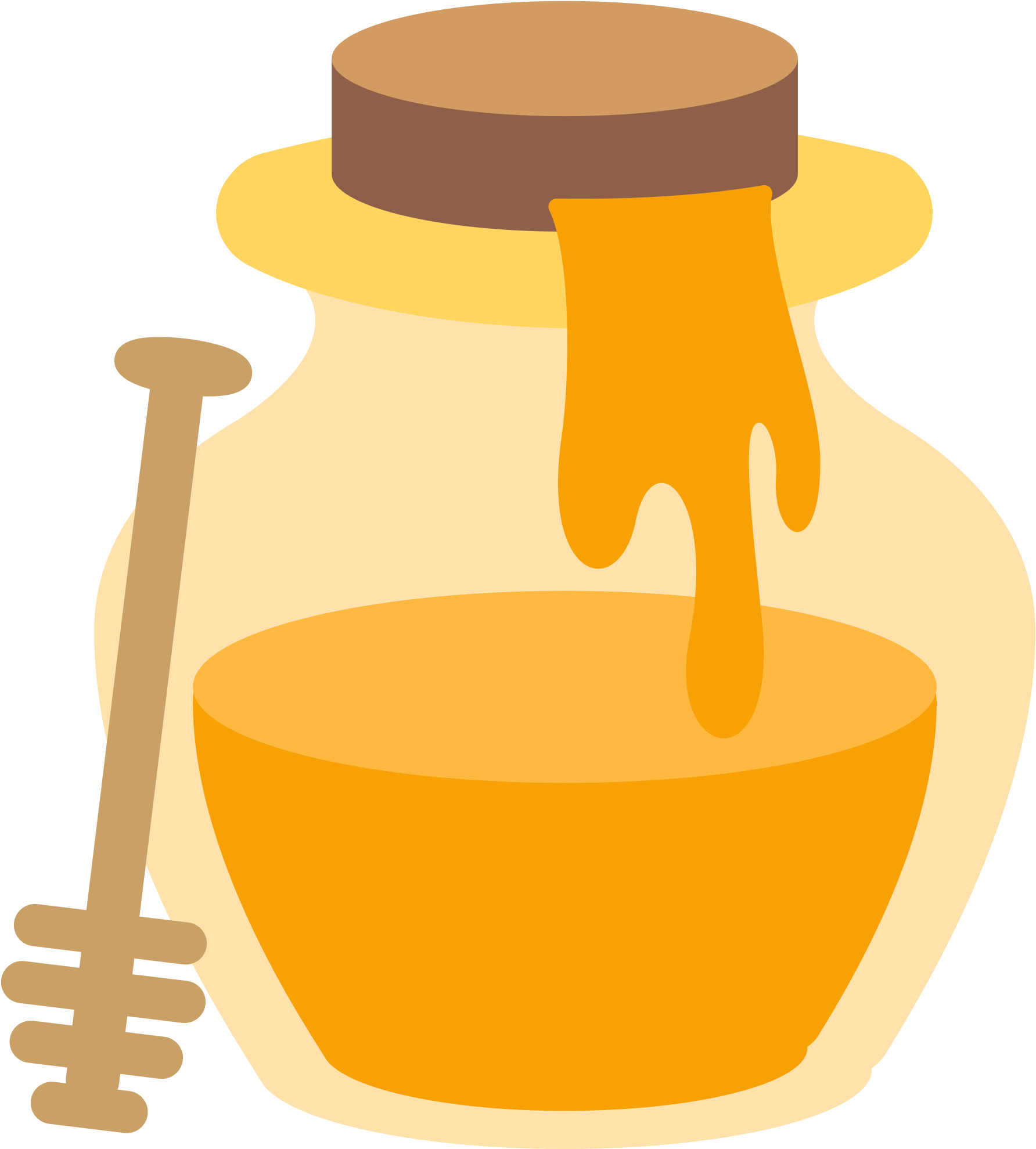 File Fxemoji Wikimedia Commons Png Honey Pot Emoji Clipart.