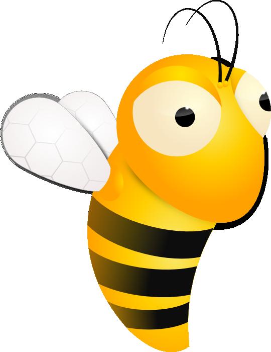 Clip Art Cartoon Bee Nice Clipart.
