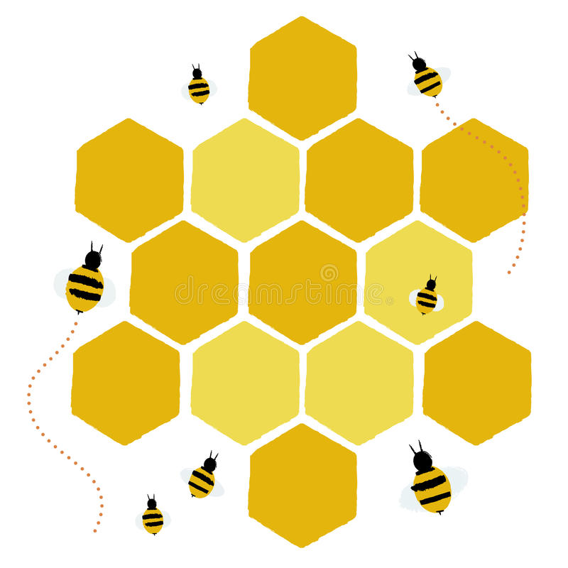 Honeycomb Stock Illustrations.