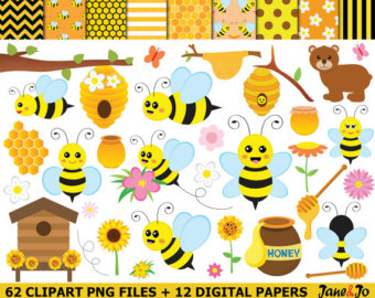 Bee clipart.