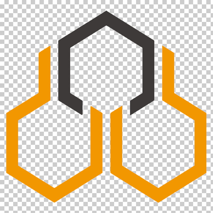 Beehive Honeycomb Logo, bee PNG clipart.