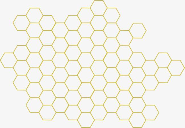 Geometric Honeycomb, Honey, Bee, Sweet PNG Transparent.