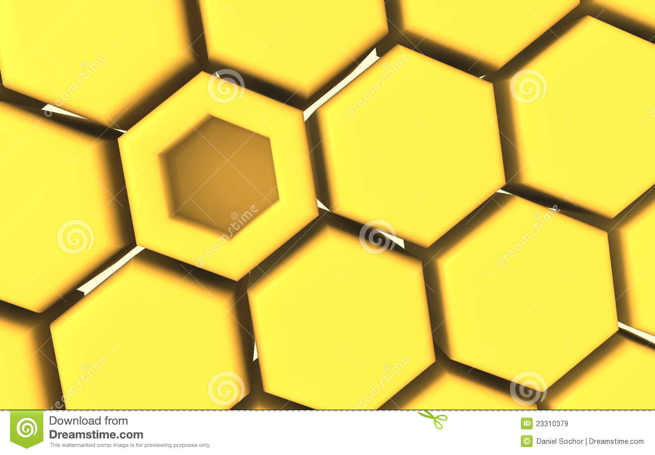 Honeycomb 3d Structure Stock Illustration.