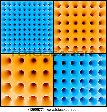 Clip Art of Abstract 3d honeycomb structure k18995772.