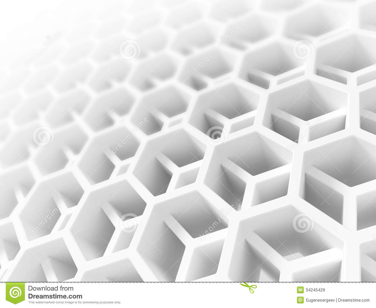 Honeycomb Structure For Aerospace Industry Stock Image.