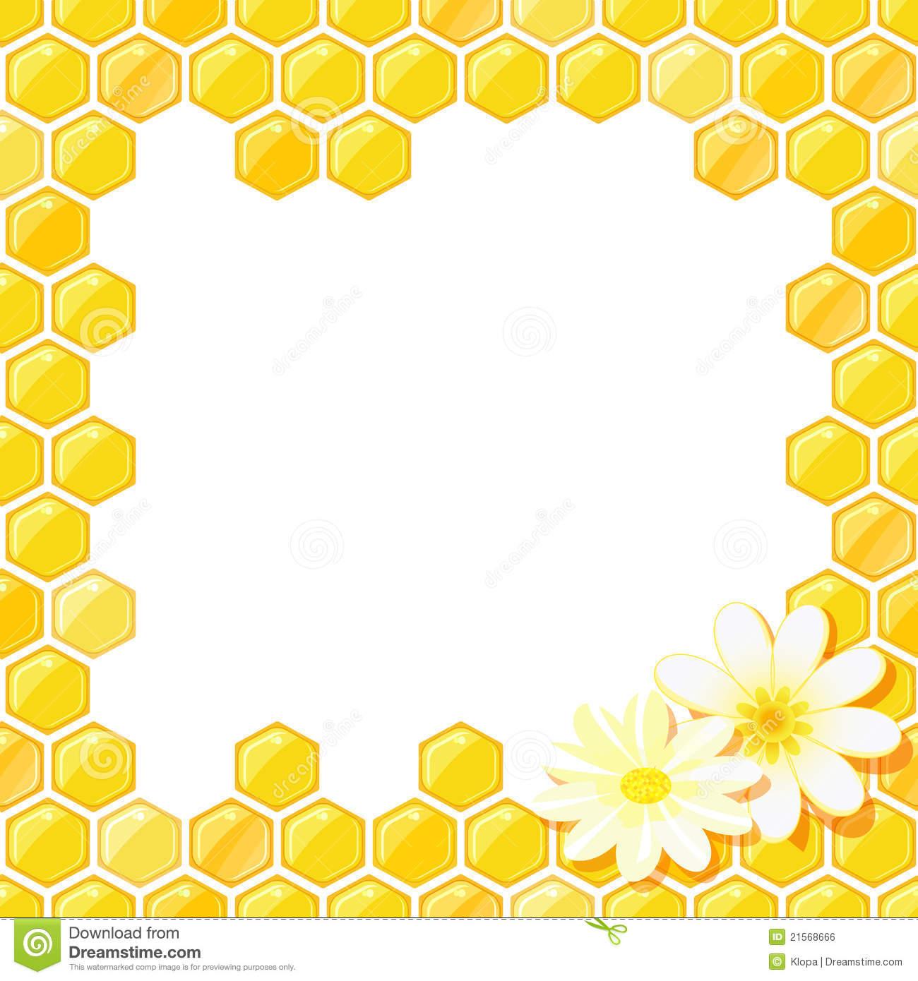 Honeycomb Border Clip Art.