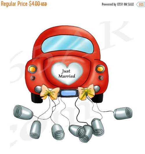 Honeymoon Car Clipart.