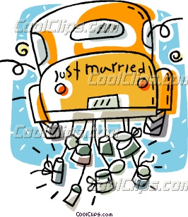 Honeymoon Car Clipart Wedding.