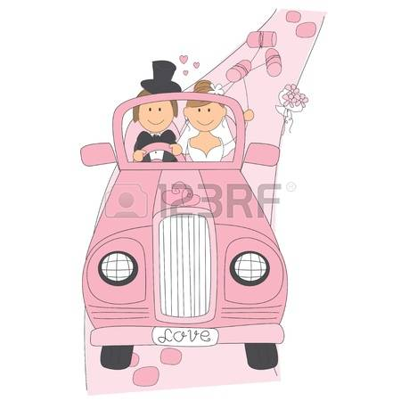484 Just Married Car Stock Vector Illustration And Royalty Free.