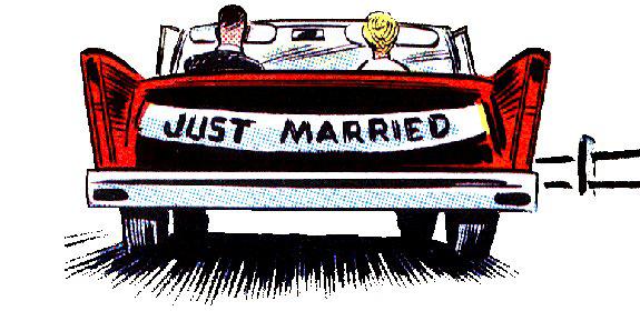 Funny honeymoon clipart.