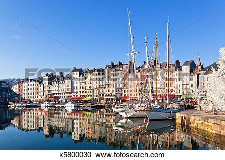 Stock Photography of Honfleur, France k5800030.