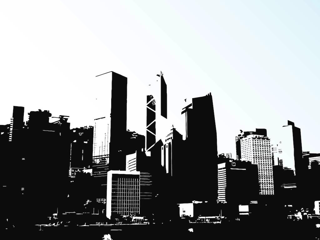 Hong Kong Cityscape Clip Art.
