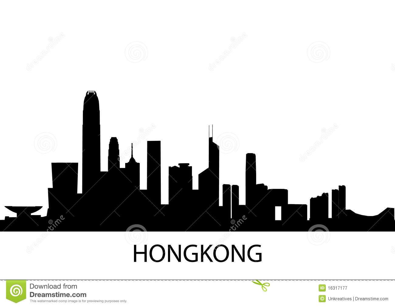 Hong Kong Skyline Clipart.