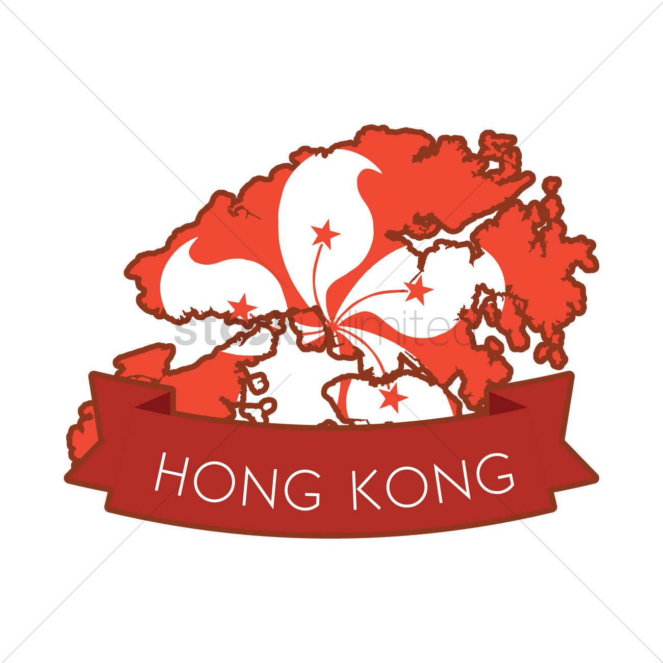 Hong Kong Map Clipart.