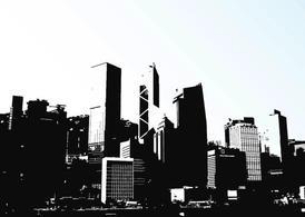 Hong Kong Skyline Clip Art, Vector Hong Kong Skyline.