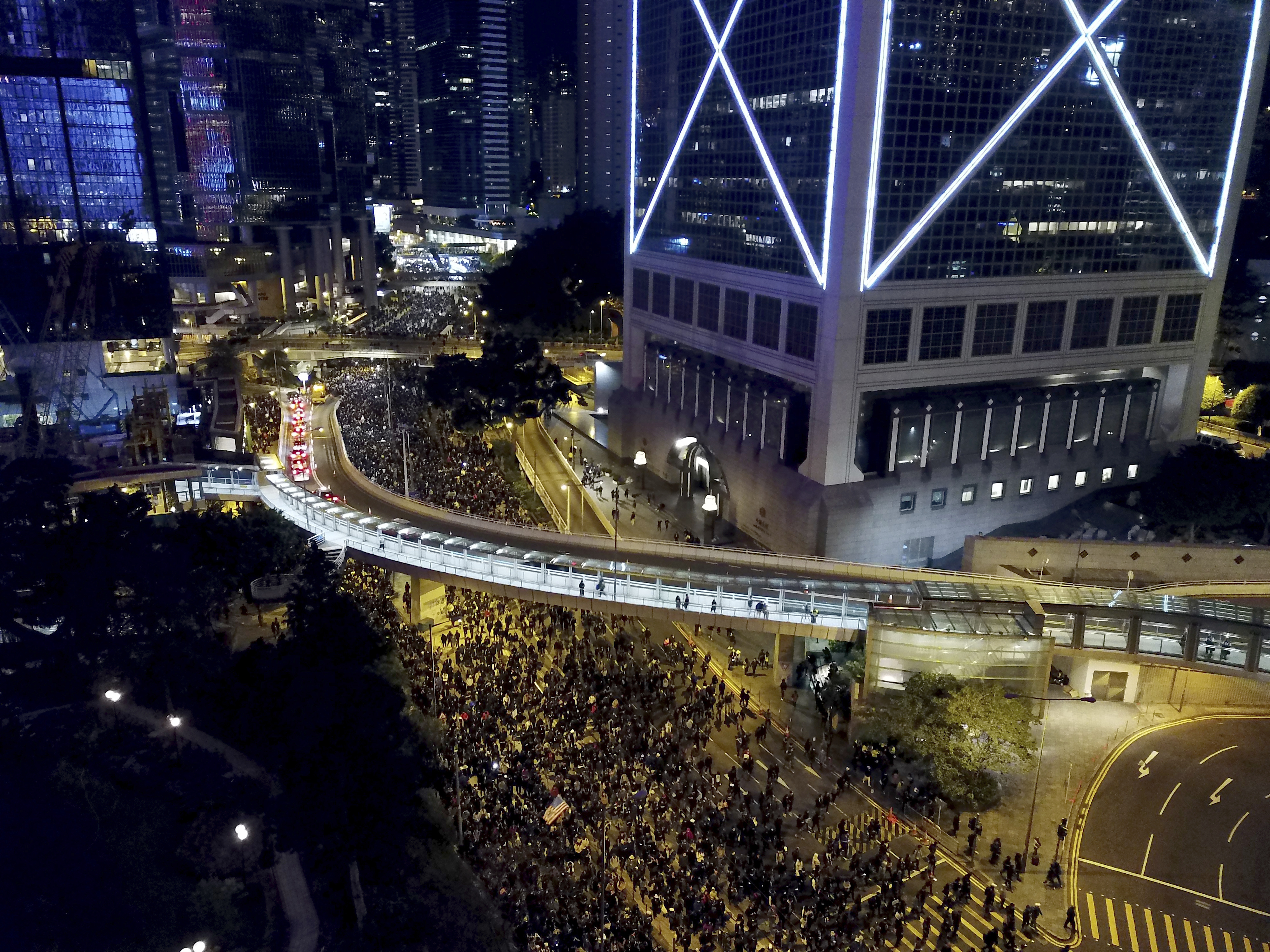 Hundreds of Thousands of Protesters Pack Hong Kong Streets.