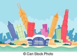 Hong kong skyline Vector Clip Art Illustrations. 166 Hong kong.